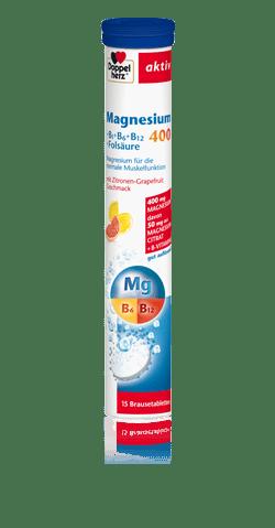 Допелхерц Актив Магнезий 400мг и Витамин Б еф.таблетки x15 (Doppelherz Magnesium)